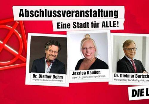 Wahlkampfhöhepunkt mit Dietmar Bartsch und Diether Dehm im DGB-Haus